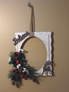 Picture frame wreath (1)